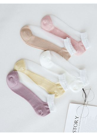 Multi color Socks . New Product Breathable Thin Transparent Ladies Stockings QWZ020 -