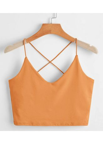Brown color Tops and Tunics . Stunning Sleeveless Crop tops -