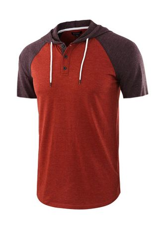 Red color T-Shirts and Polos . Men's Casual Sports Short Sleeve T-shirt -