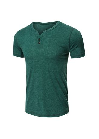 Green color T-Shirts and Polos . Men's Short Sleeve T-shirt -