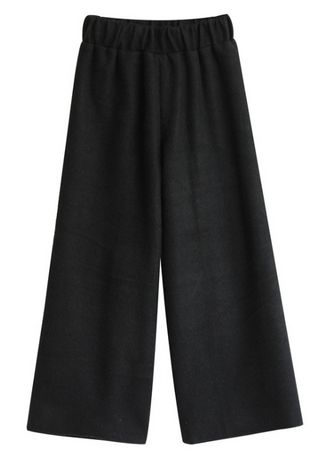 Black color Trousers . Elasticized Solid Trousers -