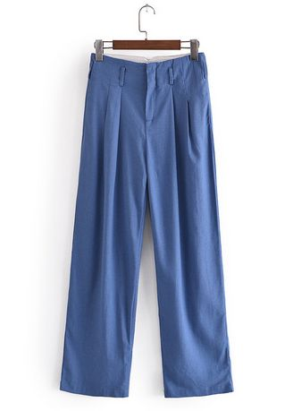 Blue color Trousers . Relaxed Fit Bold Chinos -