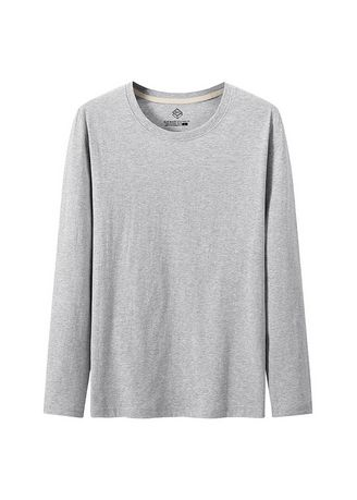 Light Grey color T-Shirts and Polos . Men's Solid Casual T-shirts -