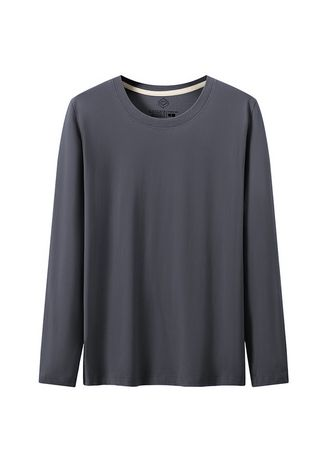 Grey color T-Shirts and Polos . Men's Solid Casual T-shirts -