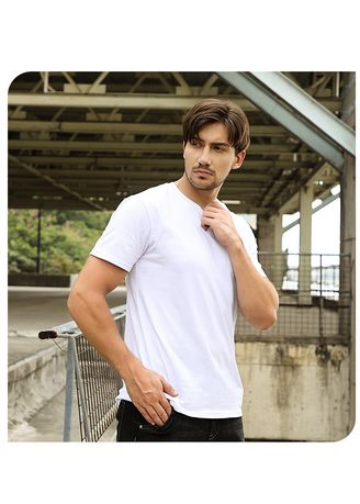White color T-Shirts and Polos . Men's Solid Casual T-shirt With Half Sleeve -