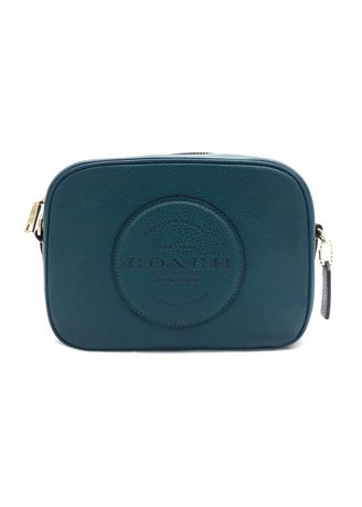 IM/TEAL INK color Sling Bags . กระเป๋าสะพายข้างCOACH C2828 DEMPSEY CAMERA BAG WITH PATCH  (IMSE1) [C2828IMSE1-RA] -