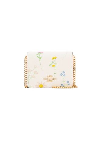 IM/CHALK MULTI color กระเป๋าสะพาย . กระเป๋าสะพายข้างCOACH C0061 MINI WALLET WITH SPACED WILDFLOWER PRINT (IMCAH) [C0061IMCAH-RA] -