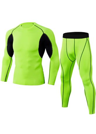 Green color Sports Wear . Fashion Outdoor Sports Fitness Suit -