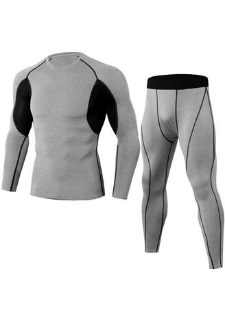Light Grey color Sports Wear . Fashion Outdoor Sports Fitness Suit -