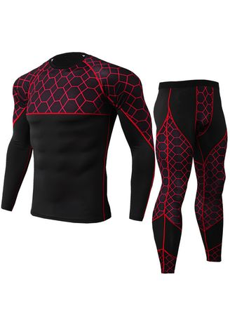 Red color Sports Wear . Men's Fitness Sports Suit -