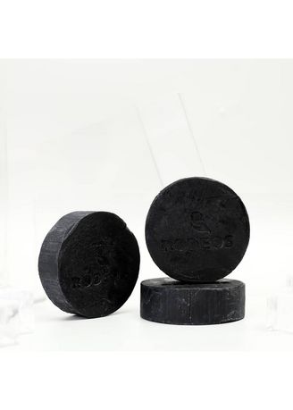 Black color Body Bars . Sabun Charcoal Rodeos For Men With Collagen and Aloe Vera -