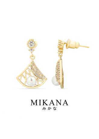 Gold color  . Mikana 18k Gold Plated Yoshi Drop Earrings Accessories For Women -