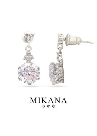Gold color  . Mikana 14k White Gold Plated Wakumi Drop Earrings Accessories For Women -