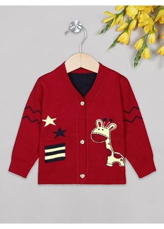 Red color Tops . The Sandbox Clothing Co. Red Girafee  Sweater -