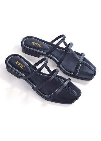 Black color Sandals and Slippers . Riva Women's Casual Sandals -