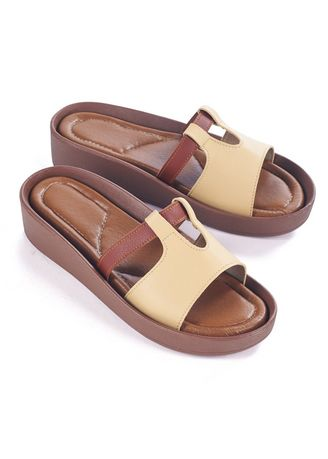 Beige color Sandals and Slippers . Orianna Women's Casual Slippers -