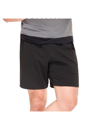 Black color Shorts & 3/4ths . Shaquille Men's Shorts with Drawstring -