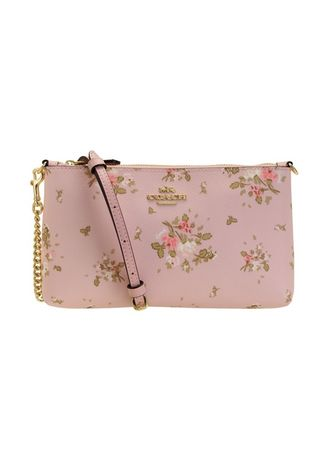 IM/BLOSSOM MULTI color Sling Bags . กระเป๋าสะพายข้าง  COACH 91758 ZIP TOP CROSSBODY WITH ROSE BOUQUET PRINT (IMOKV)  [91758IMOKV-RA] -