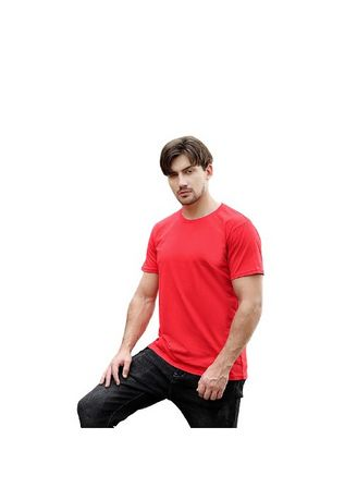 Red color T-Shirts and Polos . Men's Solid Casual T-shirt With Half Sleeve -