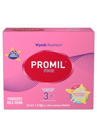 No Color color  . Wyeth Promil Four Powdered Milk Drink For Pre-Schoolers Over 3 Years Old, 1.2kg Box -