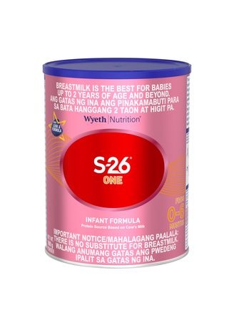 No Color color  . Wyeth S-26 One Infant Formula For 0-6 Months, 900g Can -