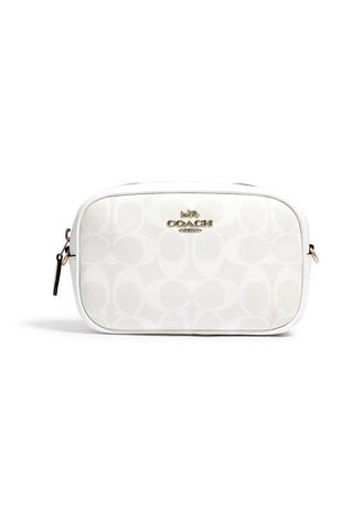 White color Sling Bags . COACH 79209 CONVERTIBLE BELT BAG IN SIGNATURE CANVAS (IMRFF) [MC79209IMRFF-CV] -