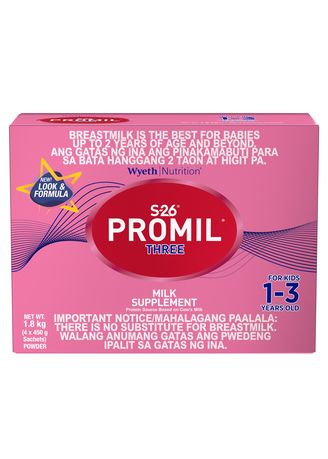 No Color color  . Wyeth S-26 Promil Three Milk Supplement for Kids 1-3 Years Old, 1.8kg Box -