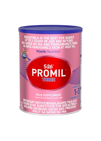 No Color color  . Wyeth S-26 Promil Three Milk Supplement for Kids 1-3 Years Old, 900g Can -