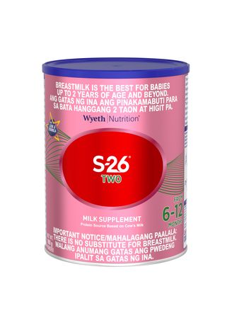 No Color color  . Wyeth S-26 Two Milk Supplement for 6-12 Months, 900g Can -
