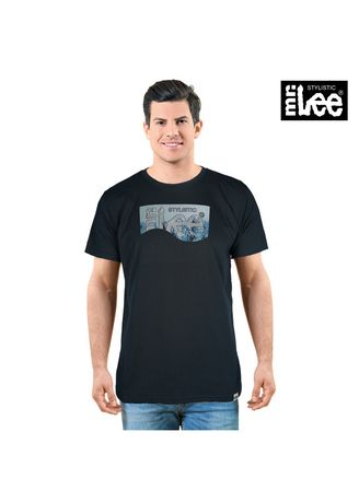 Teal Green color T-Shirts and Polos . Stylistic Mr. Lee Men's Basic Tees Semi Body Fit 17368-U -
