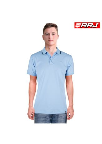 Stone Blue color T-Shirts and Polos . RRJ Men's Basic Collared Semi Body Fit 16800 -