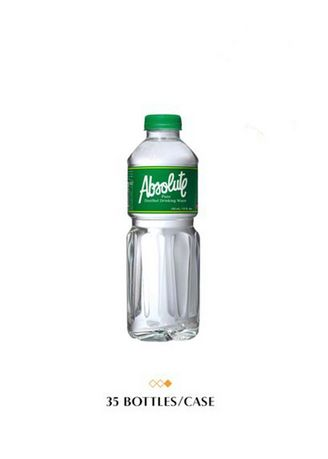 No Color color Water . Absolute Distilled Drinking Water, 350ml (35 Bottles/Case) -