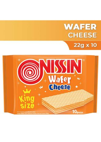 Cheese color  . Nissin King Wafer - Cheese (22g x 10) -