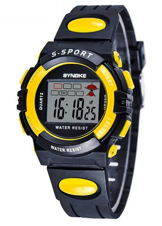 Yellow color Digital . SYNOKE 99268 Men's Sports Watch Digital Watches -