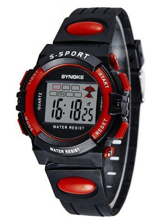 Red color Digital . SYNOKE 99268 Men's Sports Watch Digital Watches -