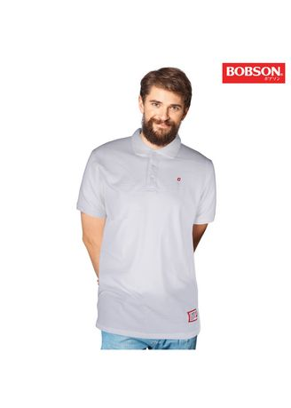 White color T-Shirts and Polos . Bobson Men's Basic Missed Lycra Collared Slim Fit 80178 (White) -