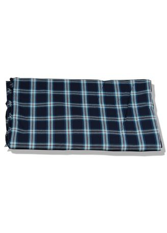 Navy color Cotton . Yarn Dyed Navy Blue Mill Made Fabric -
