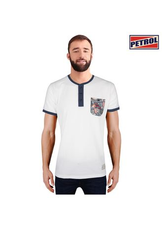 White color T-Shirts and Polos . Petrol Men's Basic Missed Lycra Tees Slim Fit 13140 (White) -
