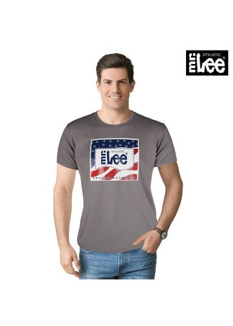 Gray color T-Shirts and Polos . Stylistic Mr. Lee Men's Basic Tees Semi Body Fit 17426-U (Gray) -