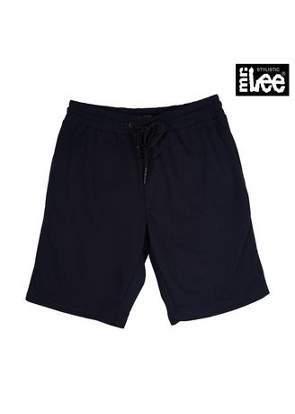 Navy Blue color Casual Trousers and Chinos . Stylistic Mr. Lee Men's Basic Non-Denim Tapered Shorts 17785 (Navy Blue) -