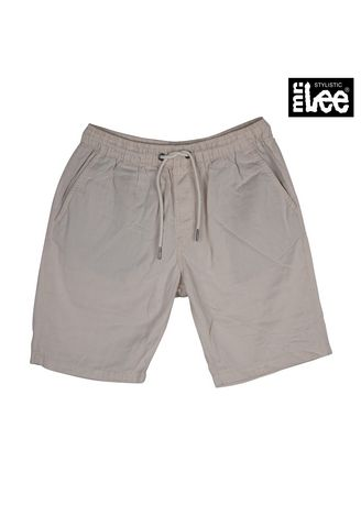 White color Casual Trousers and Chinos . Stylistic Mr. Lee Men's Basic Non-Denim Tapered Shorts 17800 (Off White) -
