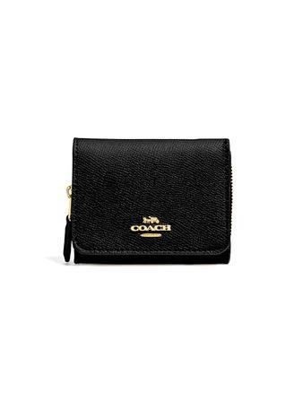 Black color Wallets and Clutches . กระเป๋าสตางค์ COACH F37968 SMALL TRIFOLD WALLET (IMBLK) -