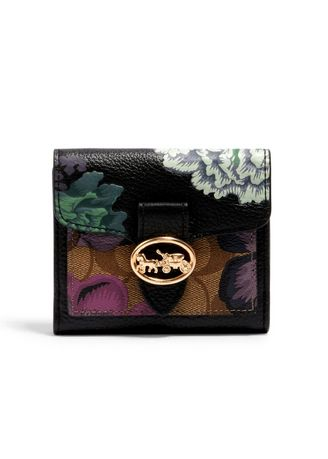 Multi color Wallets and Clutches . กระเป๋าสตางค์ COACH 6789 GEORGIE SMALL WALLET IN SIGNATURE CANVAS WITH KAFFE FASSETT PRINT (IMRO9) [6789IMRO9-MA] -