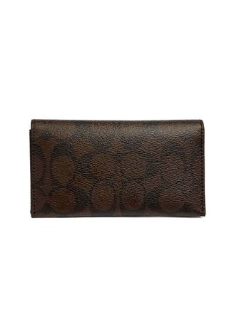 Brown color Wallets and Clutches . กระเป๋าใส่บัตร COACH F63972 UNIVERSAL PHONE CASE IN SIGNATURE (QBAE4) -